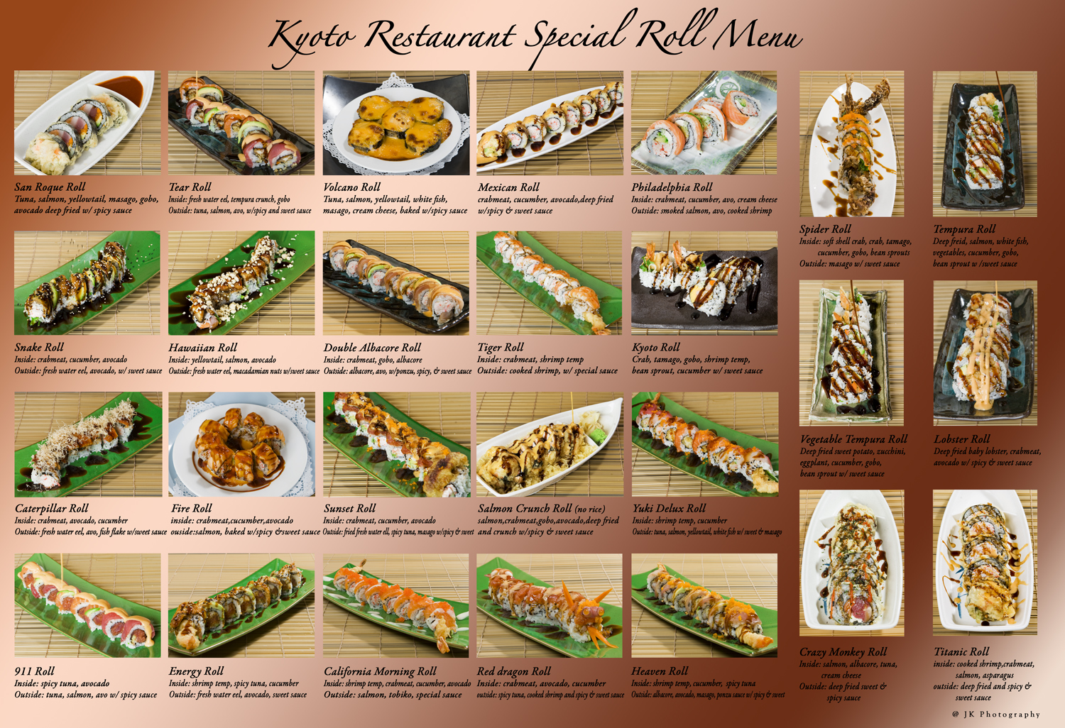 Click Above To View Or Our Sushi Order Menu